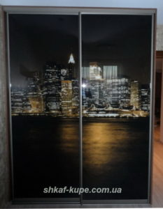 двух дверный шкаф купе с фотопечатью