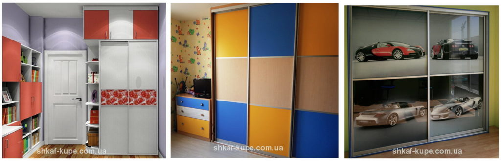 Шкафы-купе в детскую под заказ Киев