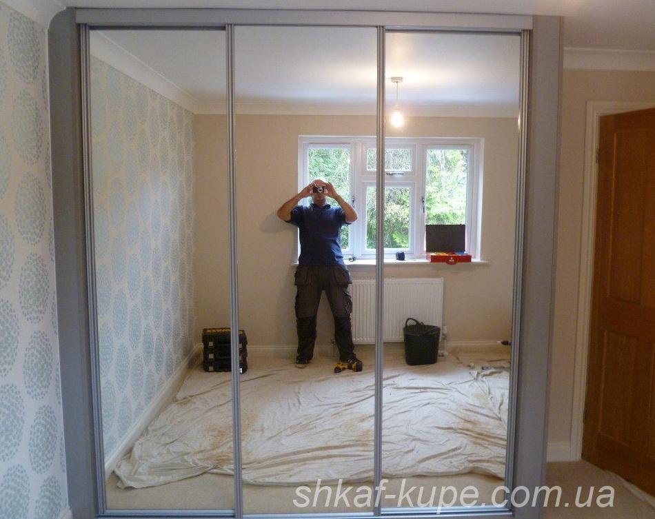 авторский шкаф зеркальный в спальню под заказ