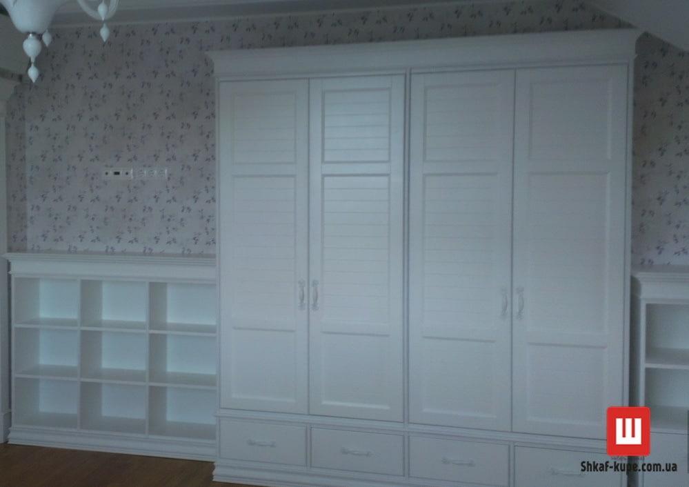 шкаф белый из дуба