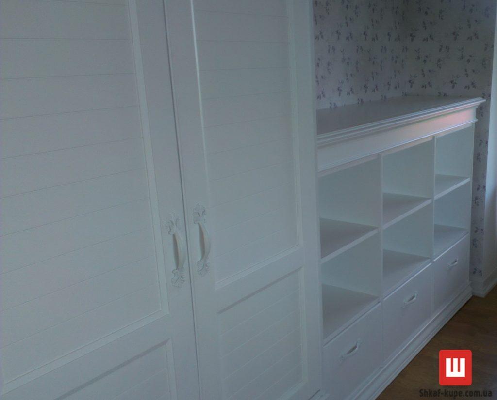 шкаф белый из дуба под заказ Киев