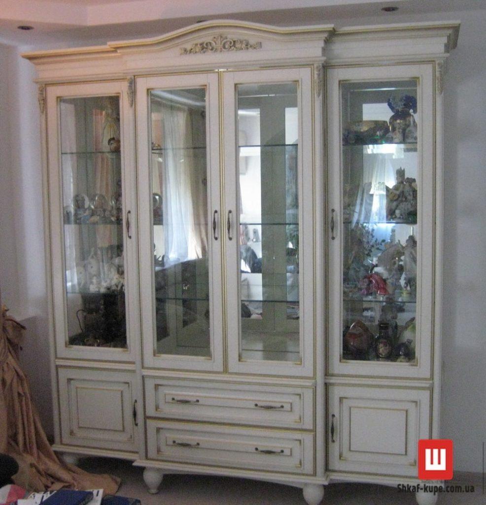 белый шкаф с деревянными дверями заказать Буча