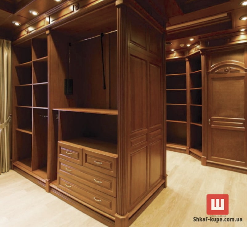 деревянный гардероб на заказ