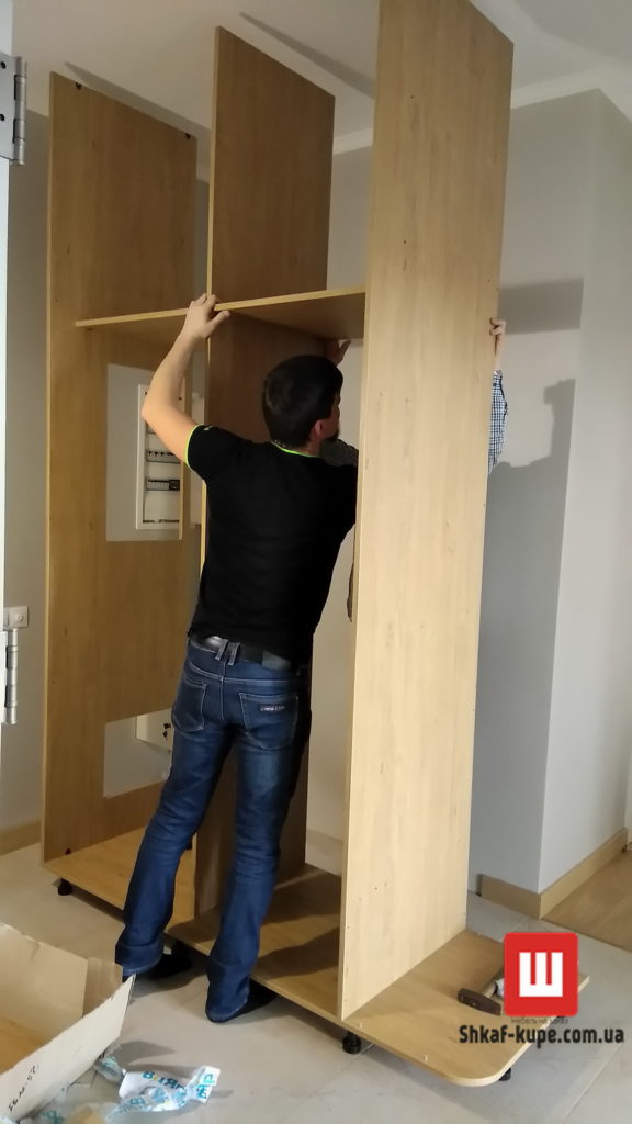 услуги сборки и установки шкафа-купе