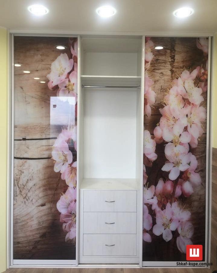 трехдверный шкаф с фотопечатью