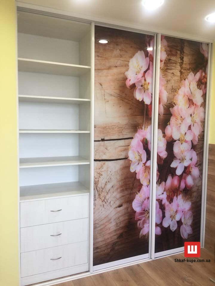 трехдверный шкаф с фотопечатью под заказ Киев