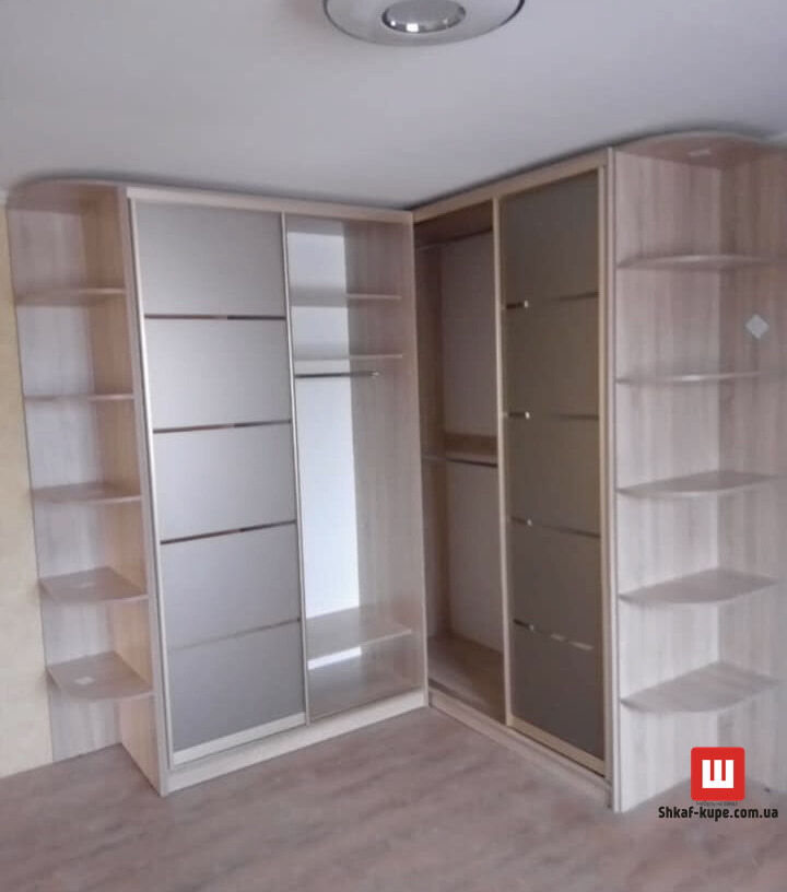 угловой шкаф-купе для гостинной под заказ