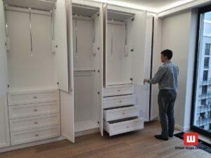 встроенная мебель в спальнбю на заказ