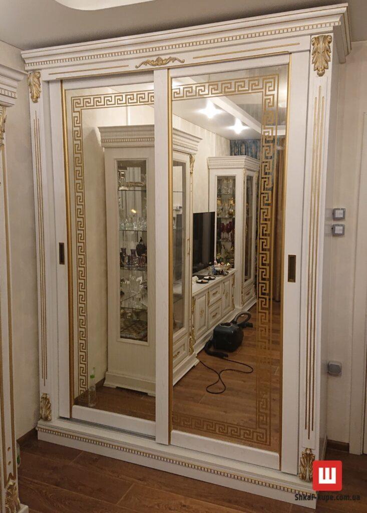 изготовление шкафов купе из натурального дуба Киев