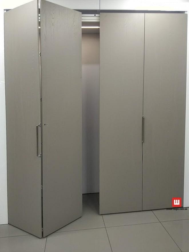 шкаф с дверями гармошка на заказ