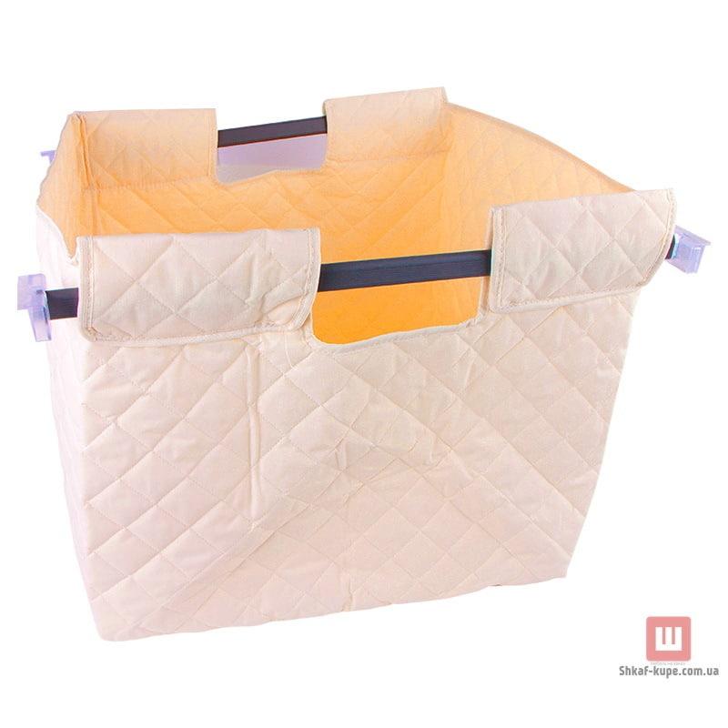 Корзина для белья тканевая навесная