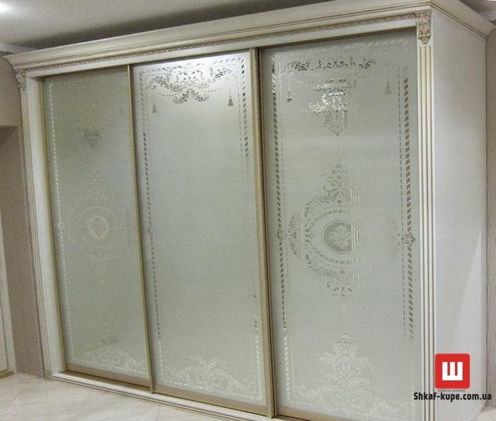 Рисунки пескоструем на фасадах мебели