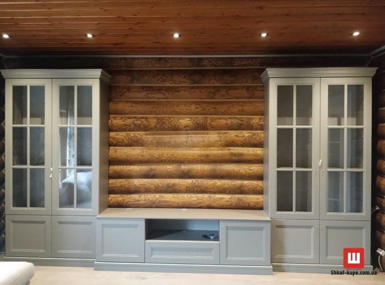 деревянный шкаф под телевизор Фото