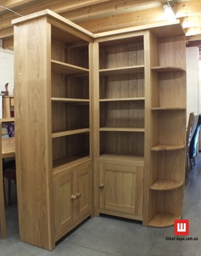 угловой шкаф для книг
