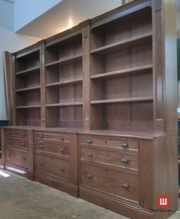 добовый шкаф книжный