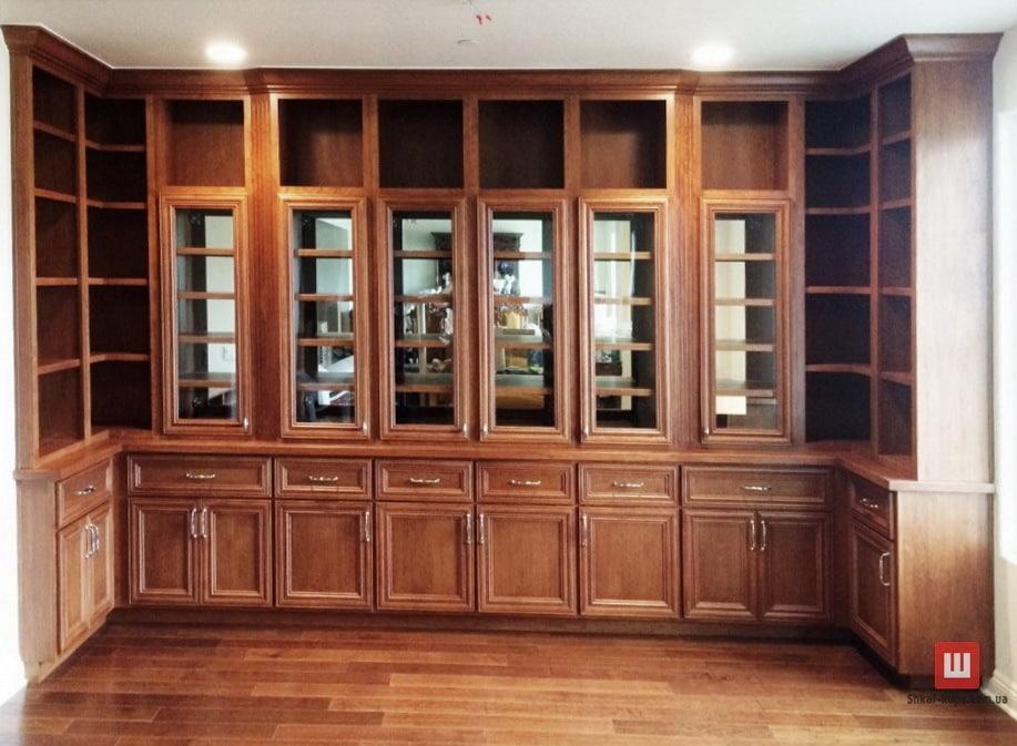 Изготовление деревянный стеллажей под заказ в дом