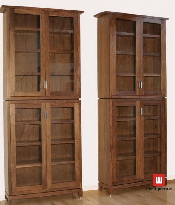 Деревяннные стелллажи в библиотеку