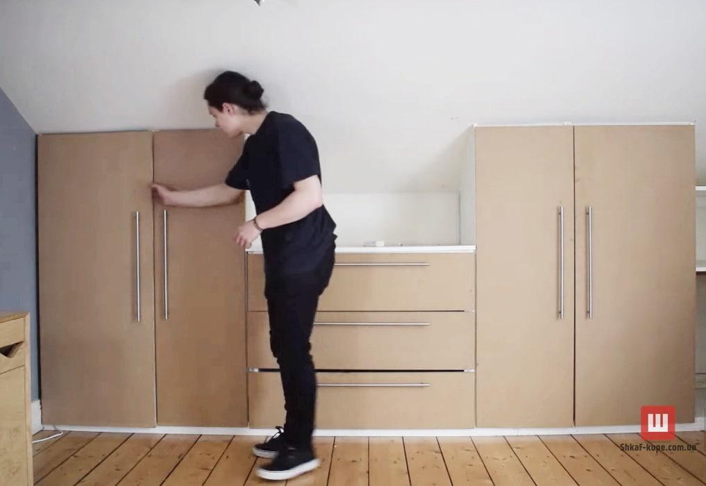 шкаф в монсарду на заказ Софиевская Борщаговка