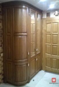 деревянный шкаф на заказ в Петропавловскую Борщаговку