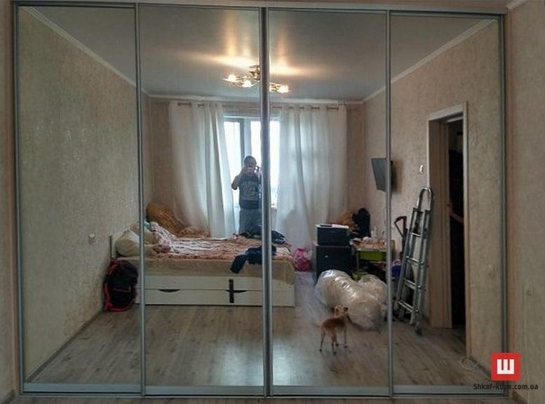 шкаф-купе в спальню на заказ в Борисполе