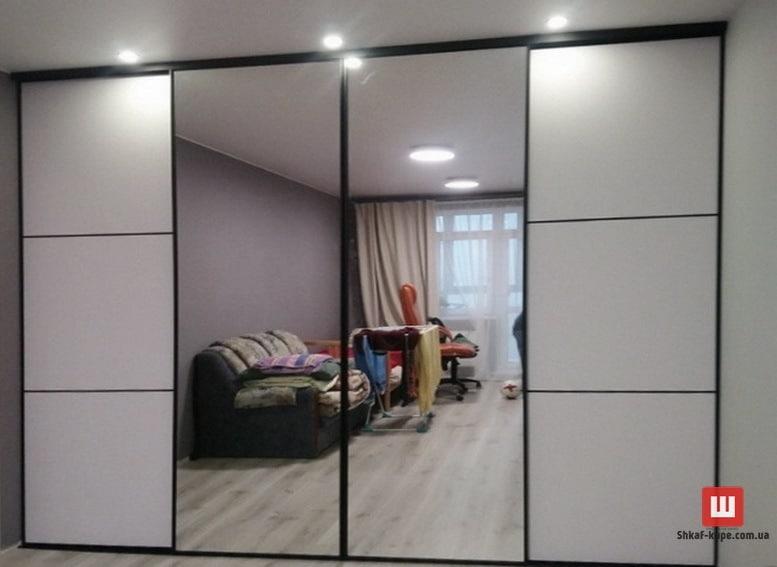зеркальный встроенный шкаф на заказ Борисполь
