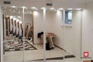 зеркальный шкаф-купе на заказ Бровары